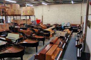 Piyano satış show room. Piyanolara genel bakış